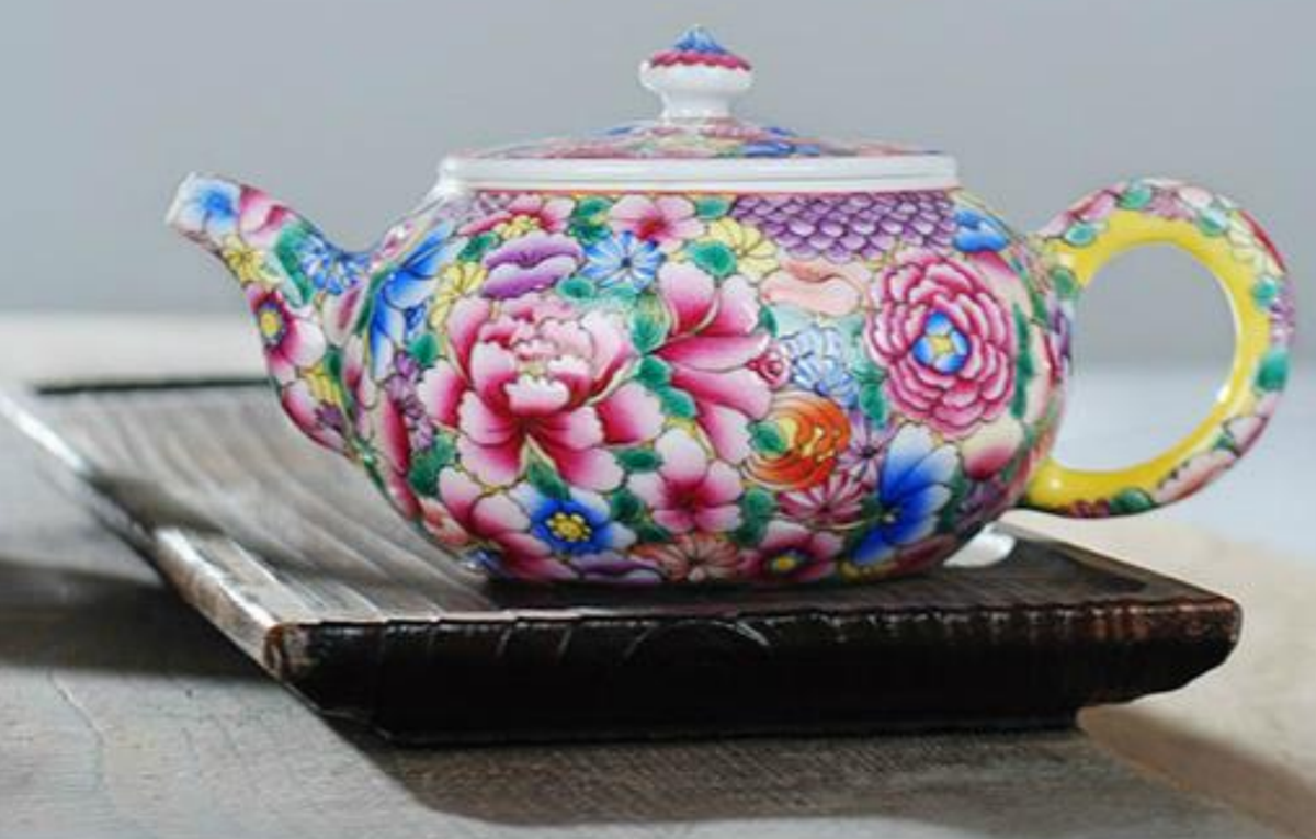 gongfu flower tea set