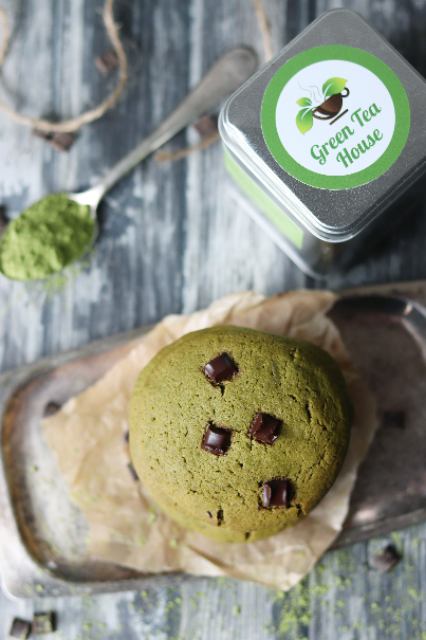 matcha chocolate chip cookies
