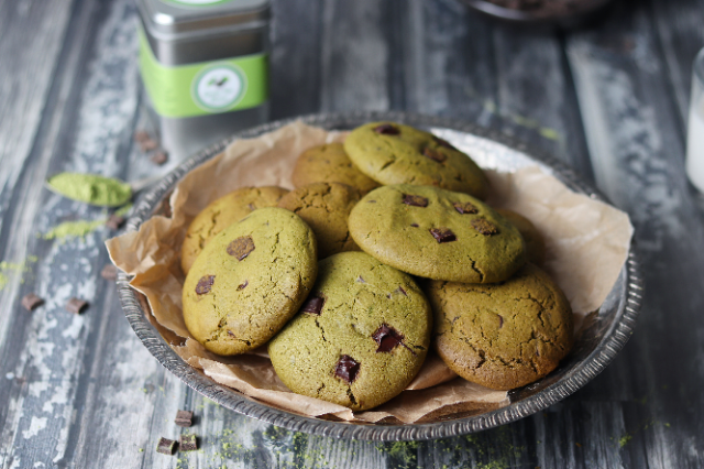 organic matcha cookies