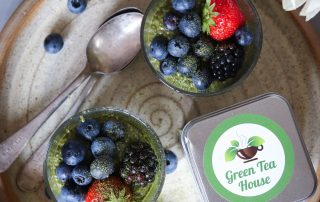 irish matcha chia pudding